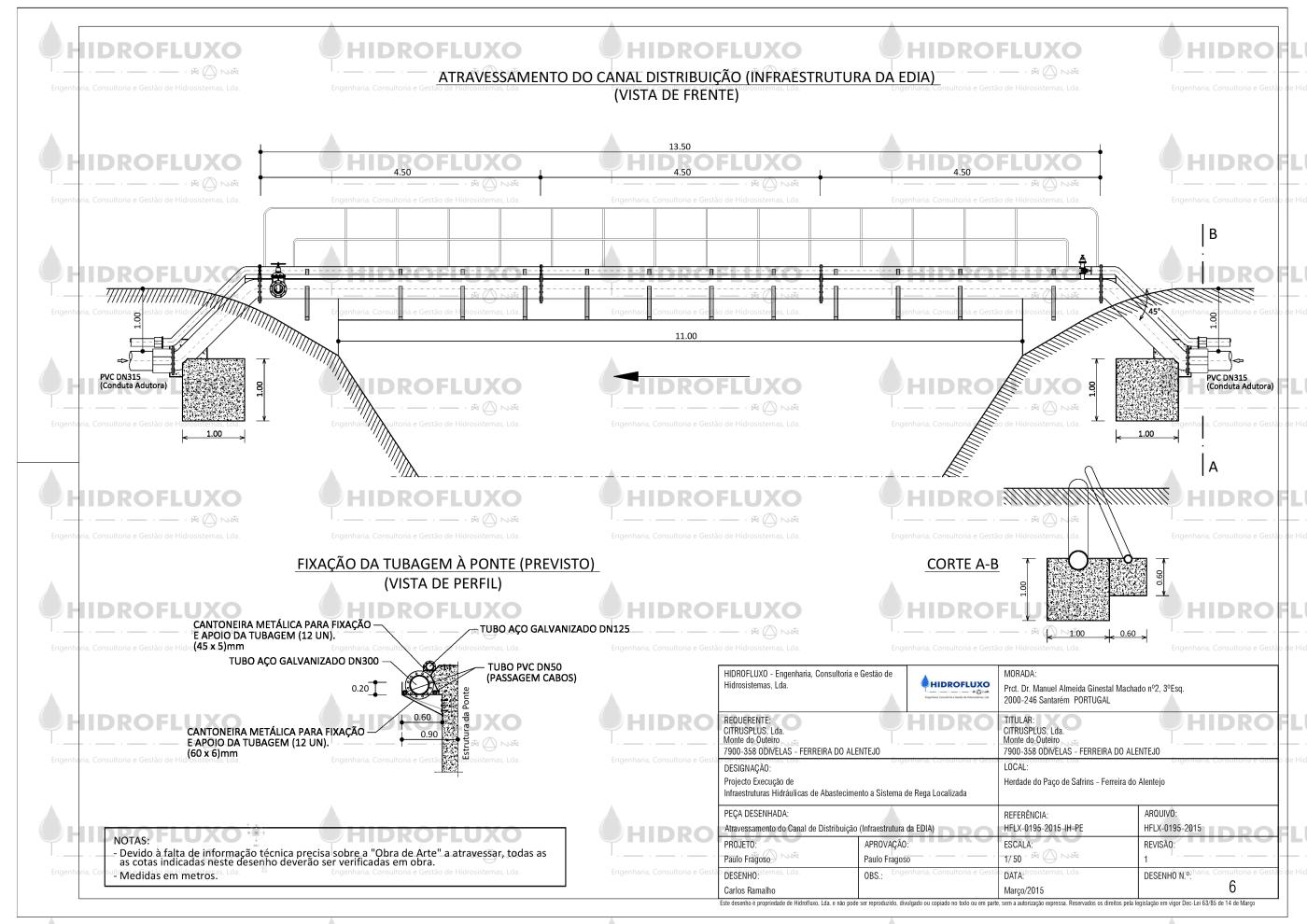 Desenho 6 - Atravessamento Canal EDIA-Model