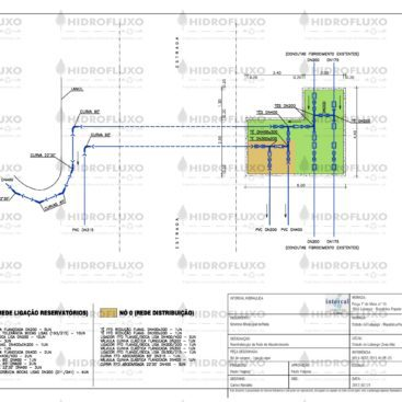 Planta de Nó de Origem em Rede Primária de Abastecimento Urbano de Água