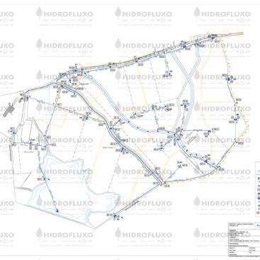 Planta de Rede Primária de Distribuição em Sistema de Rega Localizada