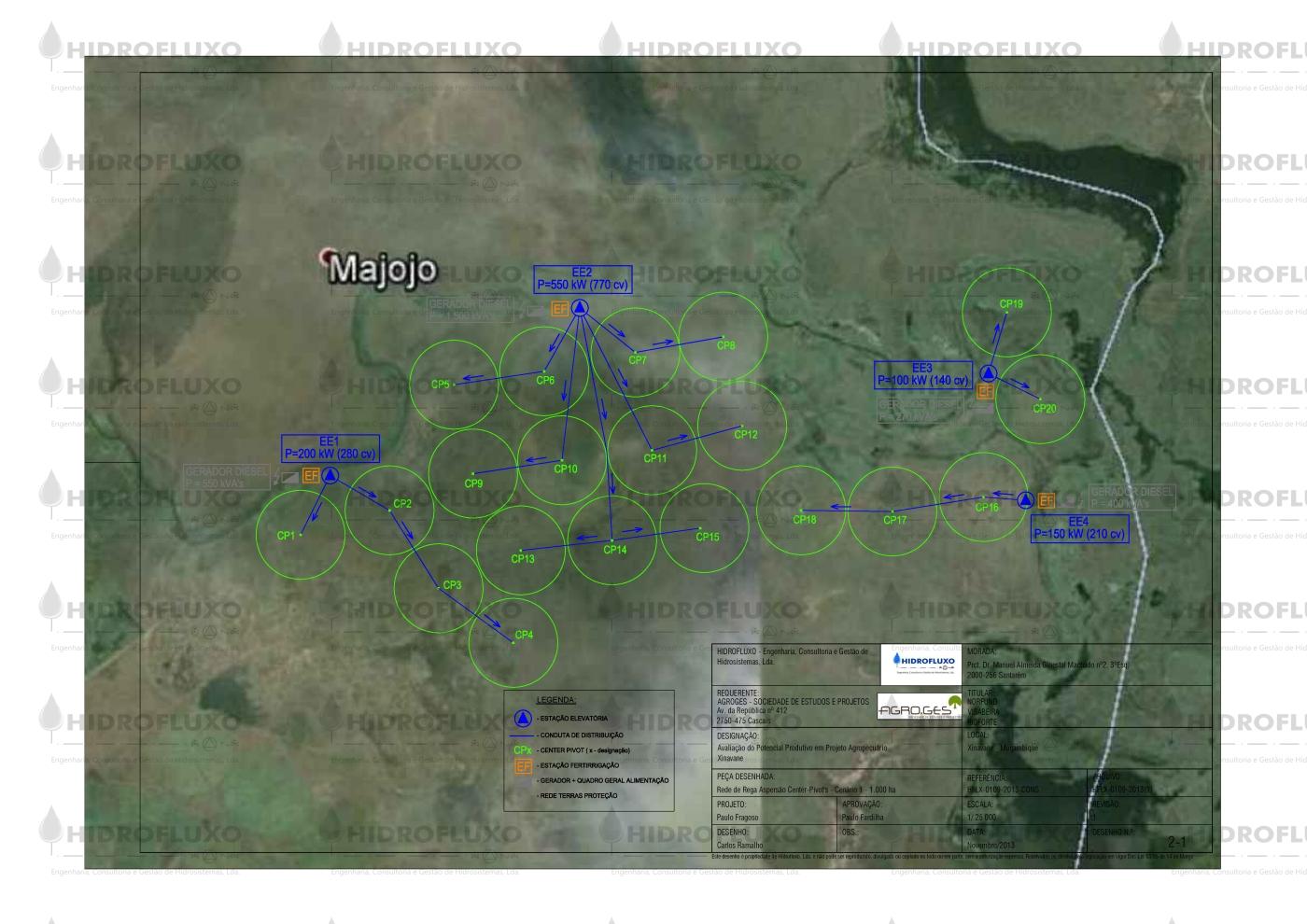 XINAVANE - Moçambique - Rede - Rega